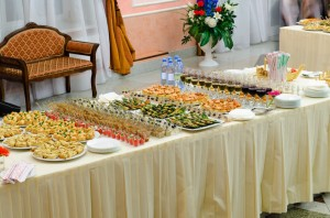Corporate Buffet Style Catering Setting